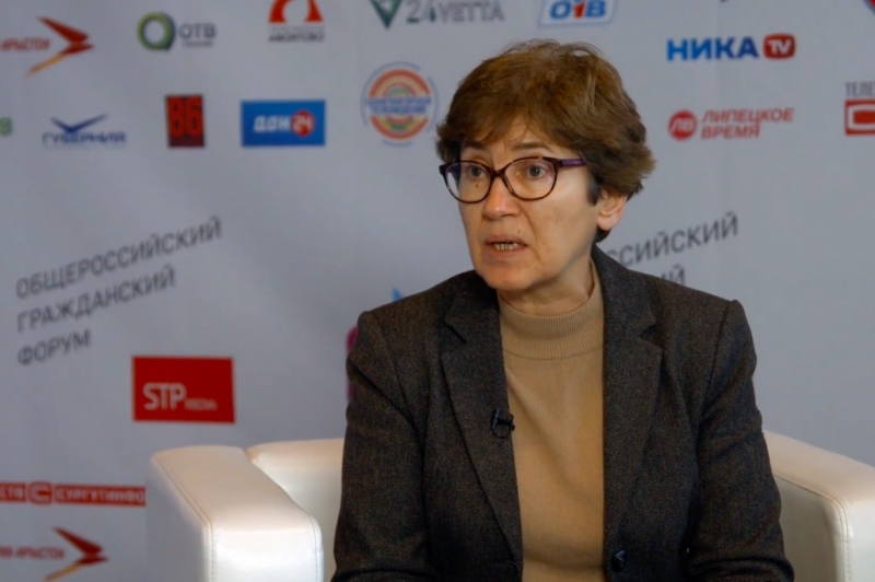 Interview with Natalia Zubarevich at the All-Russia civil forum-2017